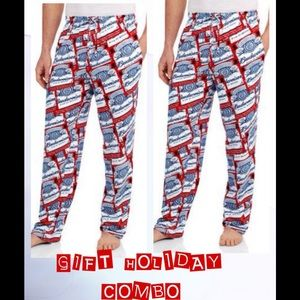 COMBO - LOUNGE PANTS BUDWEISER BEER KNIT GRAPHIC